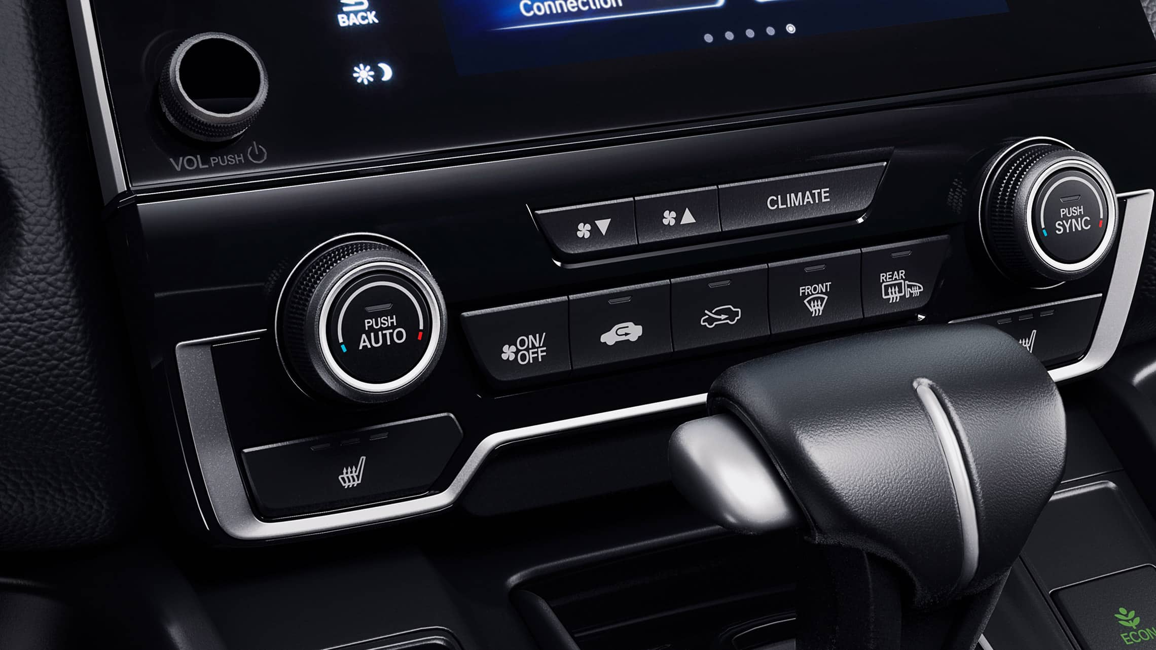 2019 Honda CR-V interior with dual-zone automatic climate control.
